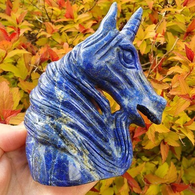 Lapis Lazuli Unicorn Skull 4