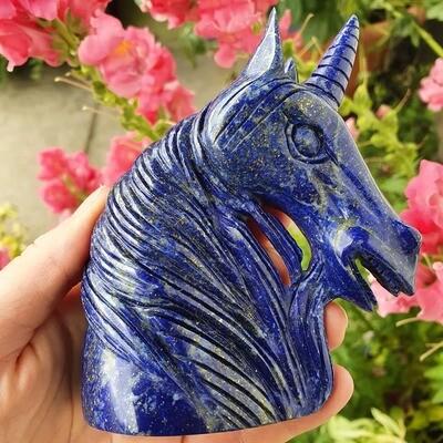 Lapis Lazuli Grade A Unicorn Skull 4