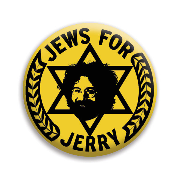 "Jews For Jerry 1"" Yellow Button"