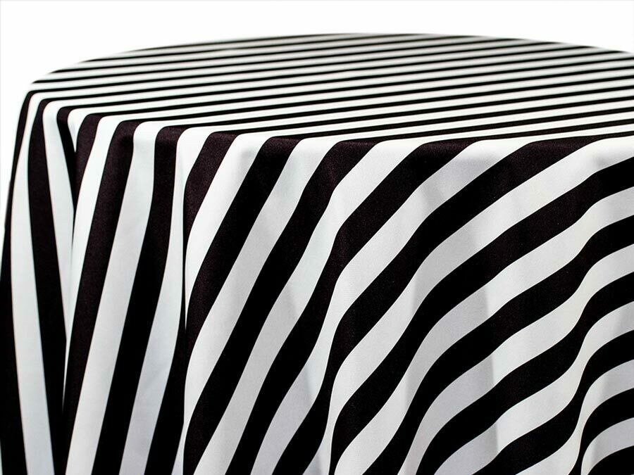 Black & White Stripe Table Runner