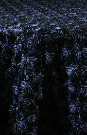 Navy Rosette Satin Tablecloths Rentals
