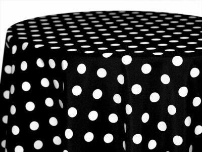 Black and White Polka Dot Napkin Rentals