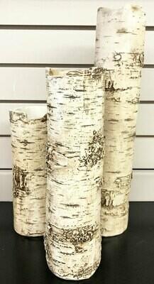 Birch Finish Branch Vases - Set of 3