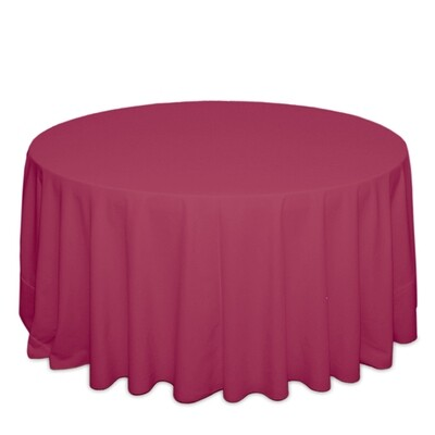 Hot Pink Tablecloth Rentals - Polyester