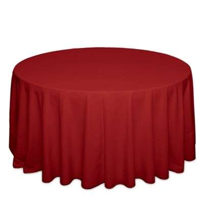Cherry Red Tablecloth Rentals - Polyester