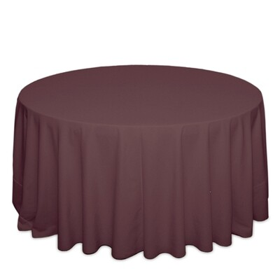 Claret Tablecloth Rentals - Polyester