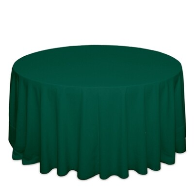 Hunter Green Tablecloth Rentals - Polyester