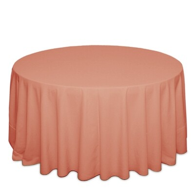 Coral Tablecloth Rentals - Polyester