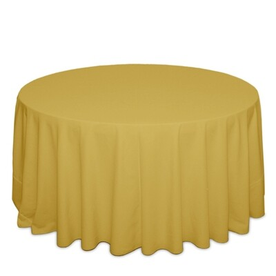 Gold Tablecloth Rentals - Polyester