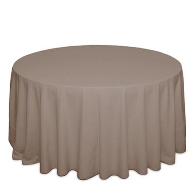 Khaki Tablecloth Rentals - Polyester
