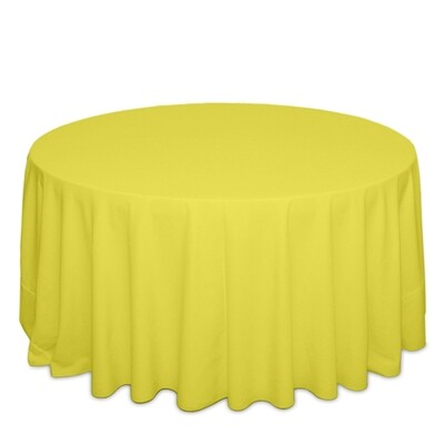Neon Yellow Tablecloth Rentals - Polyester