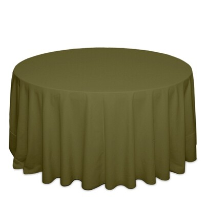 Olive Tablecloth Rentals - Polyester