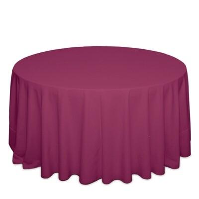 Raspberry Tablecloth Rentals - Polyester