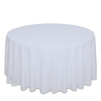 White Tablecloth Rentals - Polyester