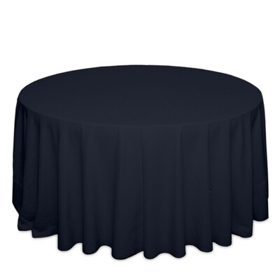Navy Tablecloth Rentals - Polyester