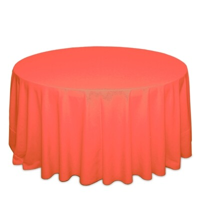 Neon Orange Tablecloth Rentals - Polyester