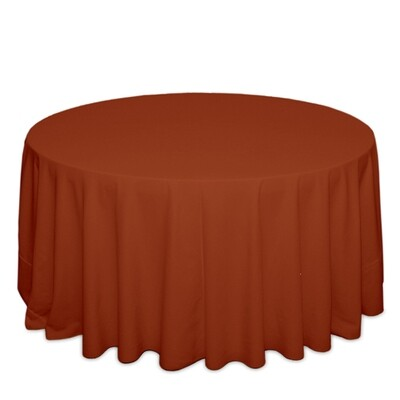 Terra Cotta Tablecloth Rentals - Polyester