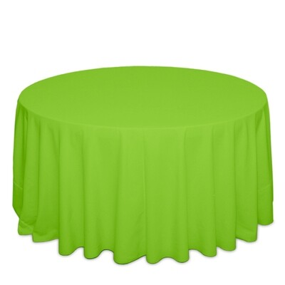 Neon Green Tablecloth Rentals - Polyester