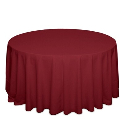 Ruby Tablecloth Rentals - Polyester