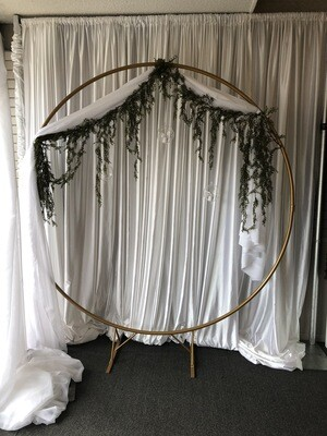 Gold Hoop Wedding Arch Rental