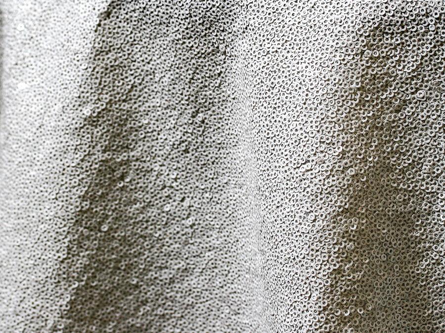 White Sequin Tablecloth Rentals - Taffeta