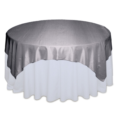 Silver Taffeta Tablecloths Rentals