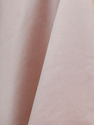 Blush Lamour Matte Satin Table Cloth Rentals