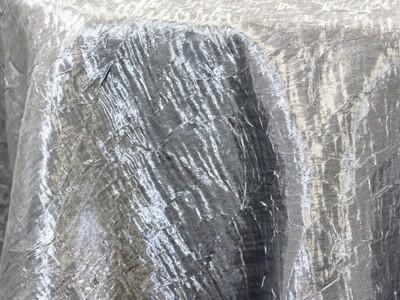 Silver Iridescent Crush Tablecloth Rentals