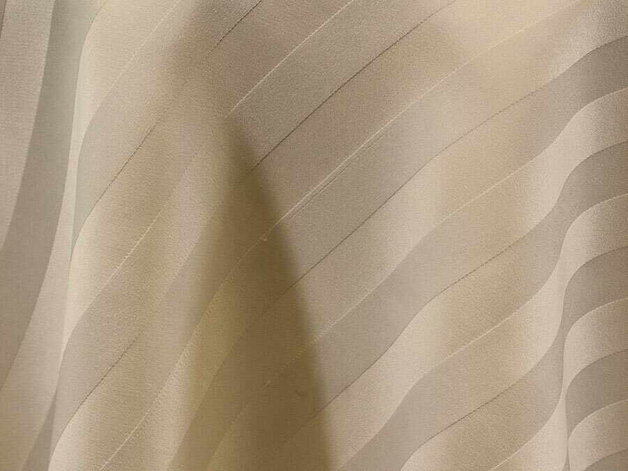 Ivory Satin Stripe Tablecloths Rentals