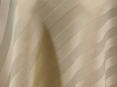 Ivory Satin Stripe Tablecloths Rentals
