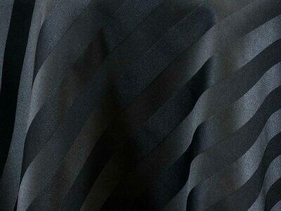 Black Satin Stripe Tablecloths Rentals
