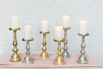 Athena Gold Candle Holders - 3 Piece Set
