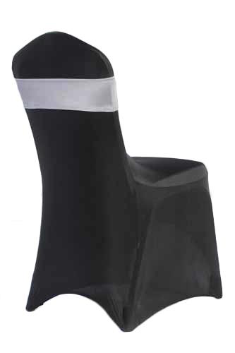 Silver Spandex Chair Band Rental