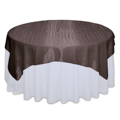 Chocolate Mirror Table Overlay Rental