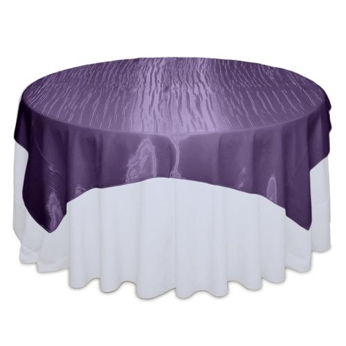 Eggplant Mirror Table Overlay Rental
