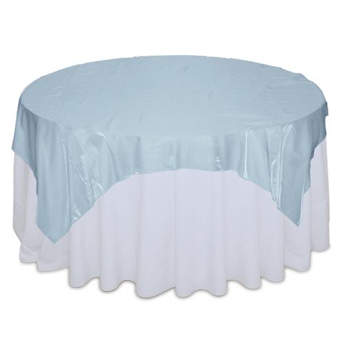 Light Blue Organza Satin Table Overlay Rental