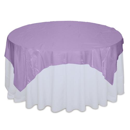 Lavender Organza Satin Table Overlay Rental