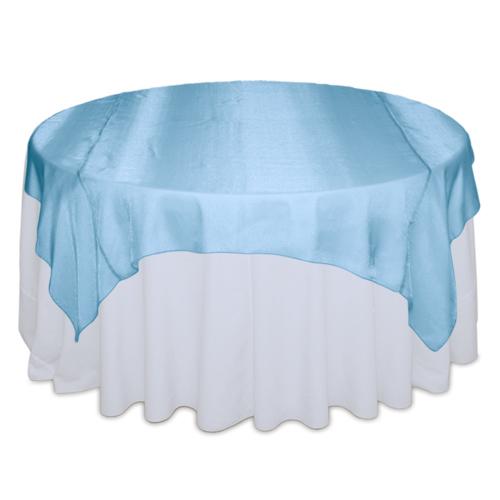 Turquoise Sheer Table Overlay Rental