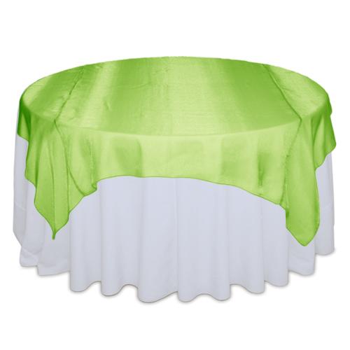 Lime Green Sheer Table Overlay Rental
