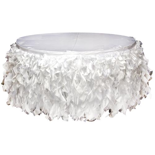 White Organza Tutu Table Skirting Rental