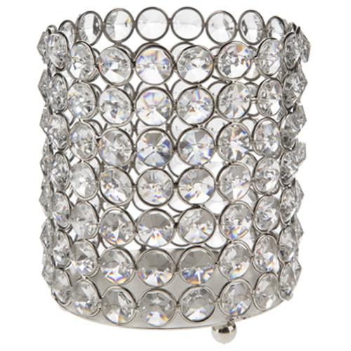 Medium Crystal Gem Pillar Candle Holder Rental