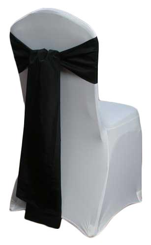 Black Taffeta Chair Sashes