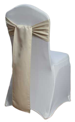 Champagne Matte Satin Chair Sashes