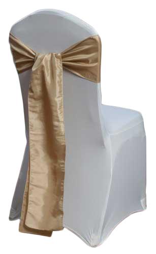 Champagne Taffeta Chair Sashes