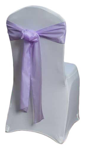 Lavender Organza Satin Chair Sashes