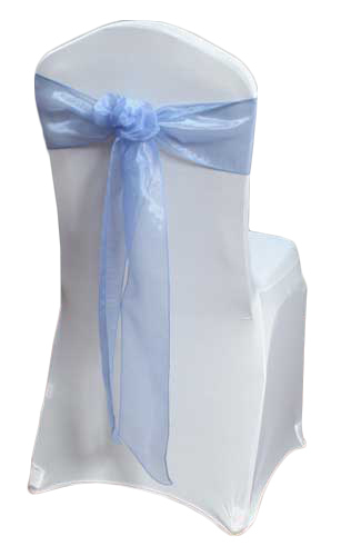 Periwinkle Mirror Chair Sash Rental