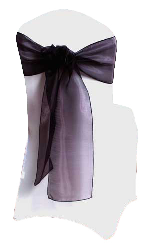 Plum Mirror Chair Sashes