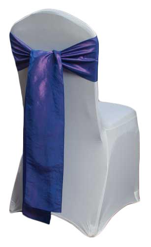 Purple Taffeta Chair Sashes