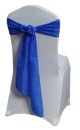 Royal Blue Organza Satin Chair Sashes