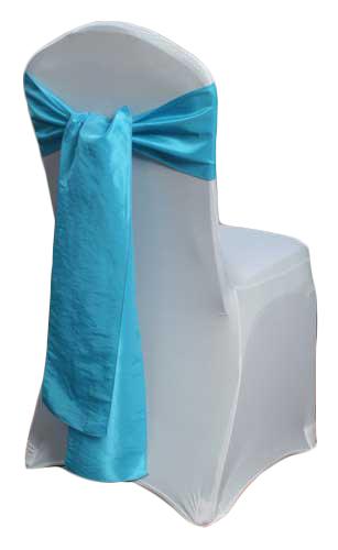 Sky Blue Taffeta Chair Sashes